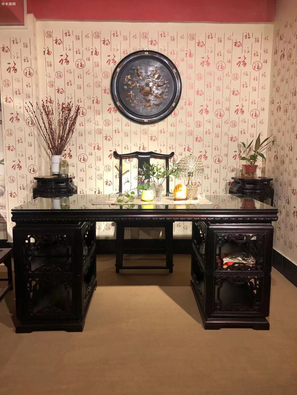 大红酸枝交趾黄檀书桌椅的优点和好处品牌