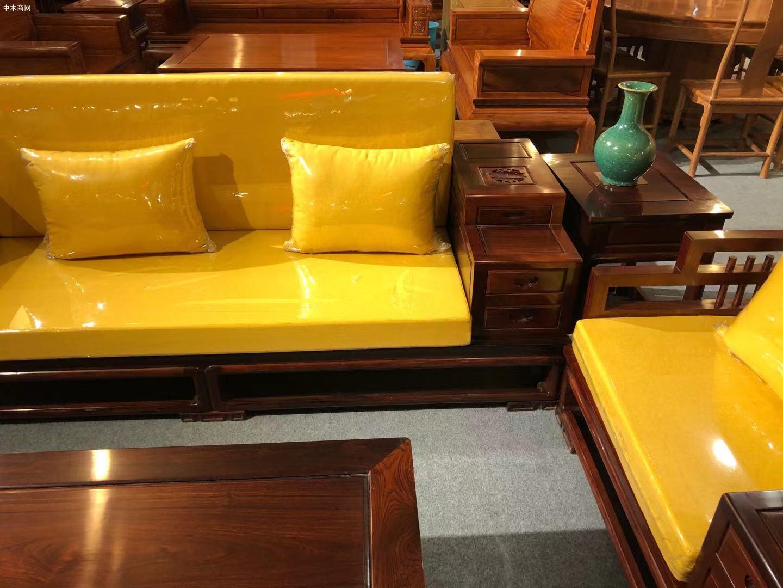 高端大气上档次花枝客厅新中式沙发五件套高清图片品牌排行榜
