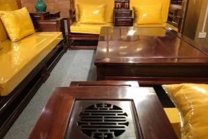 高端大气上档次花枝客厅新中式沙发五件套厂家直销