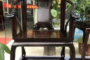 真品老挝大红酸枝皇宫椅三件套多少价格?