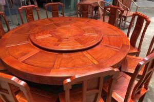 缅甸花梨国色天香两米大圆餐桌哪里可以批发?