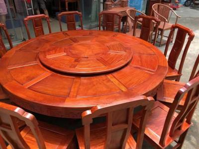 缅甸花梨国色天香两米大圆餐桌价格多少?