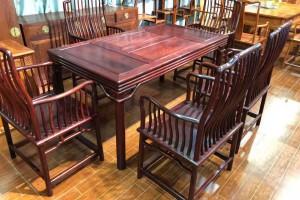 红木家具里的花枝茶台一般是什么木呢?
