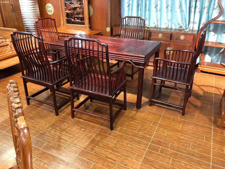 红木家具里的花枝茶台一般是什么木呢图片