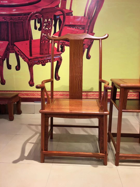 缅甸花梨官帽椅3件套多少钱厂家