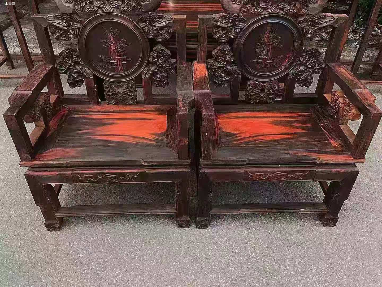 大红酸枝中堂六件套多少一套品牌