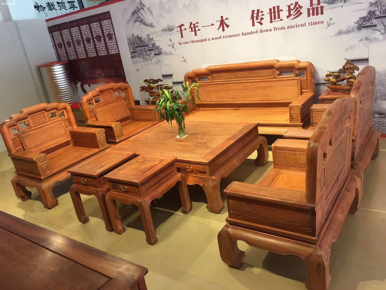 缅甸花梨沙发10件套价格大概是多少钱