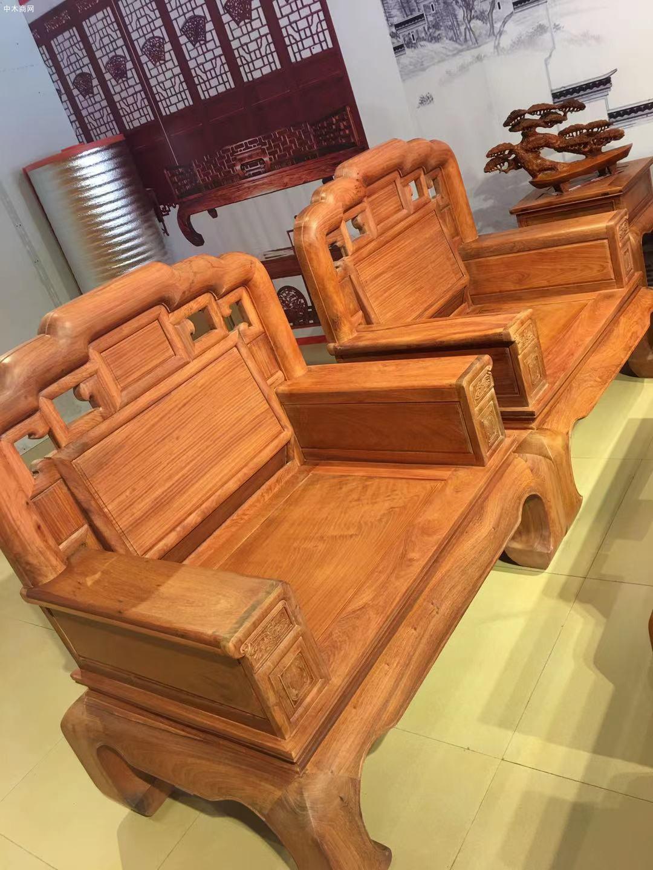 缅甸花梨沙发10件套价格大概是多少钱厂家
