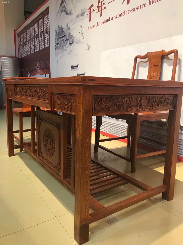 缅甸花梨木茶桌茶台厂家生产供应商