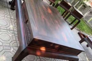大红酸枝黑红老料素面光板沙发图片