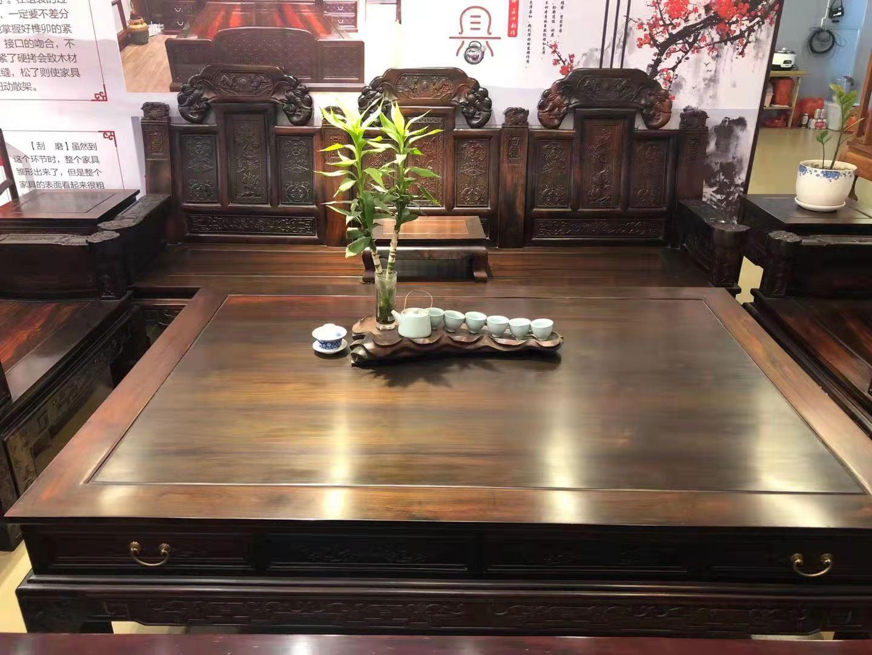 老挝大红酸枝交趾黄檀大如意沙发十一件套最新价格采购