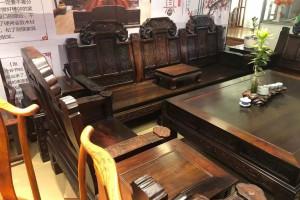 老挝大红酸枝交趾黄檀大如意沙发十一件套最新价格