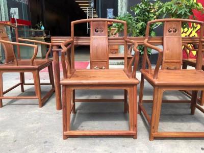 国工精品缅甸花梨明式干泡茶台生胚打磨工艺制作六件套品质如图