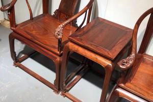 缅甸花梨皇宫椅哪里的最漂亮!