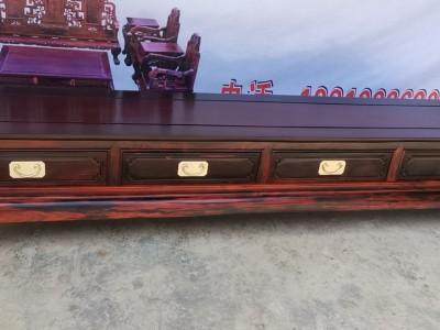 老挝大红酸枝电视柜价格及图片