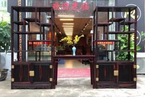 老挝大红酸枝的博古架红木家具怎么样?