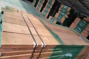 今年7月满洲里口岸进口木材59.3万立方米