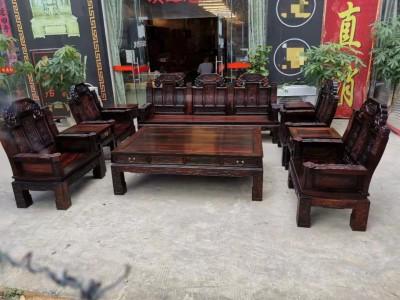 老挝大红酸枝象头如意沙发十件多少钱?
