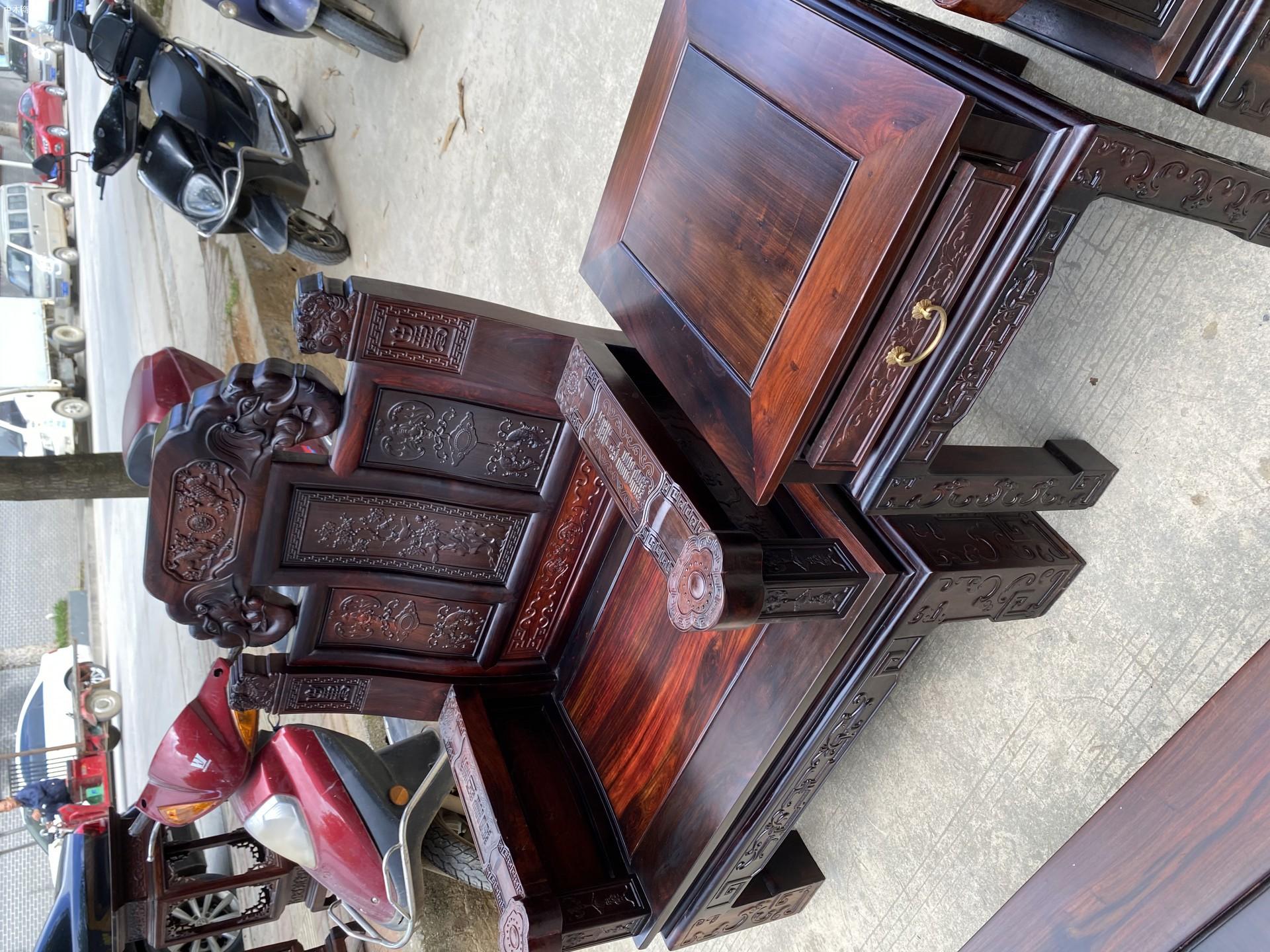 老挝大红酸枝如意象头沙发是什么木头价格