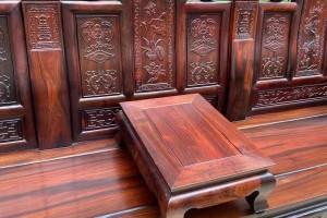 老挝大红酸枝如意象头沙发高清图片