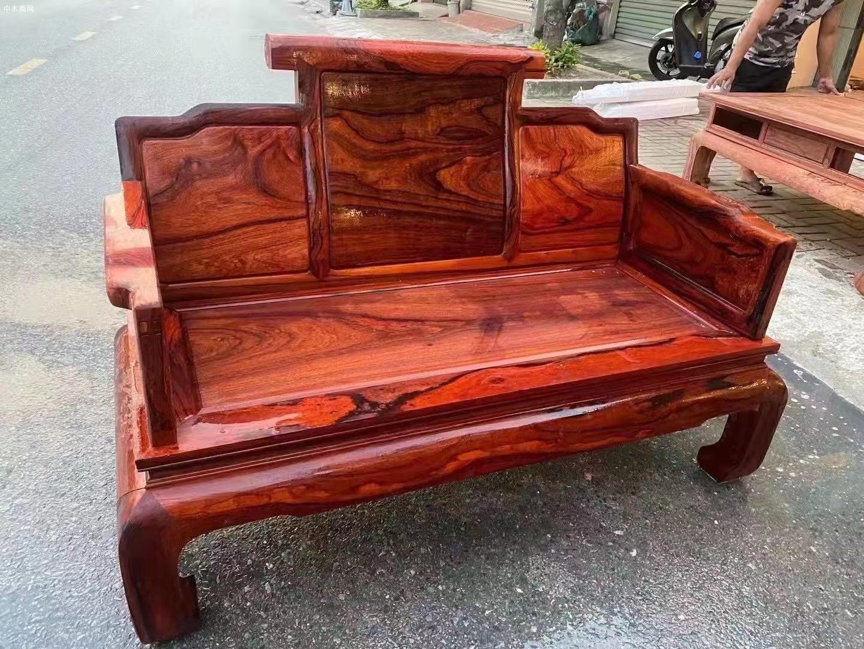 缅花黑红老料123六件套沙发价格厂家