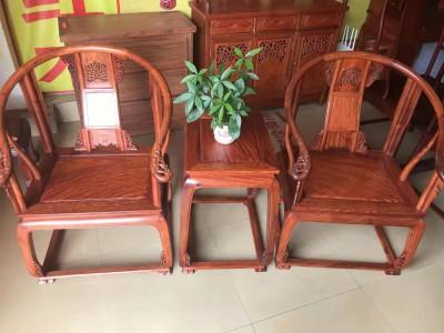 缅甸花梨皇宫椅多少钱三件套