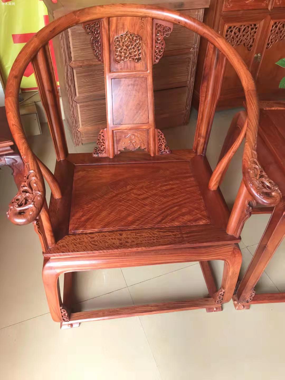 缅甸花梨皇宫椅多少钱三件套图片