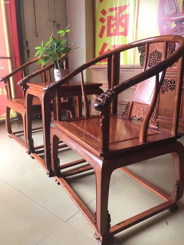 缅甸花梨皇宫椅多少钱三件套采购